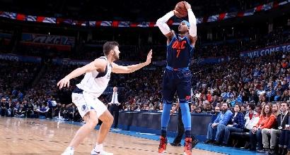 Basket, Nba: colpo Dallas sui Thunder
