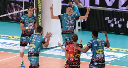 Volley: Perugia vola, Trento piega Modena