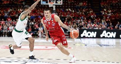 Basket, Serie A playoff: l'Olimpia Milano stende Avellino e conquista la semifinale