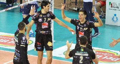 Volley, SuperLega: Civitanova mette la quinta, Milano ko