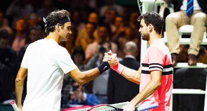 Tennis: Federer trionfa a Rotterdam