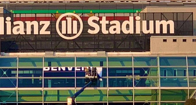"""Juventus, preparativi allo Stadium: """"Benven..."""""""