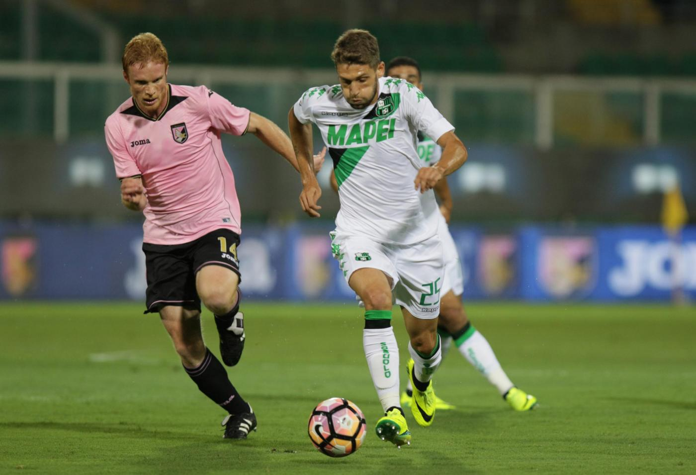 Il Sassuolo vola con Berardi: Palermo ko