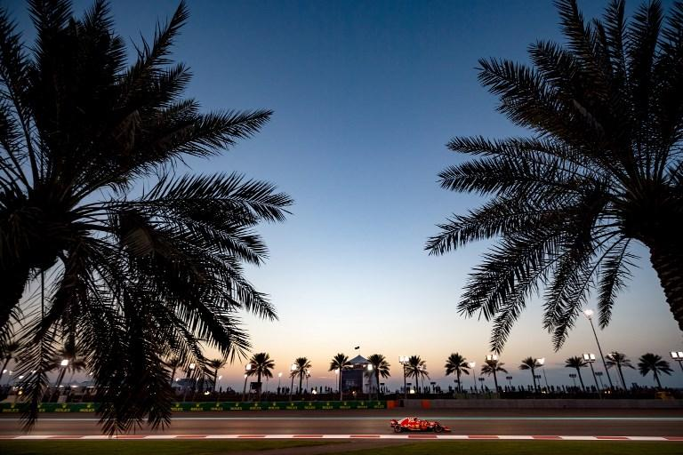 Raikkone durante la seconda sessione di prove libere del GP di Abu Dhabi (23 novembre)