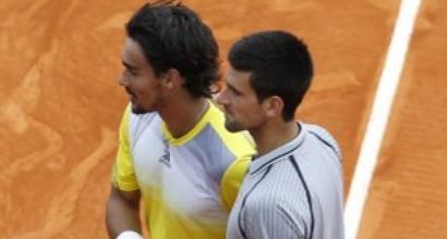 Fognini-Djokovic, foto Afp