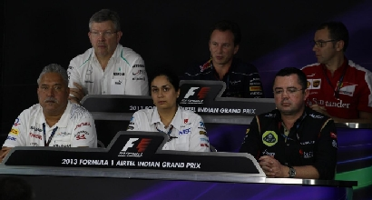 Team principal in conferenza stampa in India (Reuters)