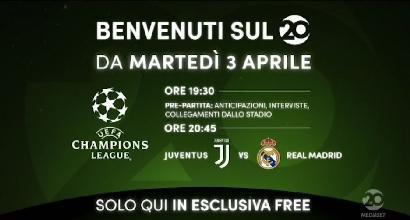 Mediaset accende il canale 20: si parte con Juve-Real in chiaro