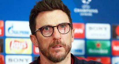 """Roma, Di Francesco: """"Barça forte di suo, non servono aiuti. Che bravo ter Stegen"""""""