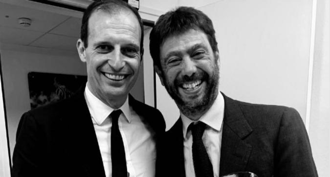 """Juve, Agnelli e il messaggio ad Allegri: """"Grazie Max"""""""