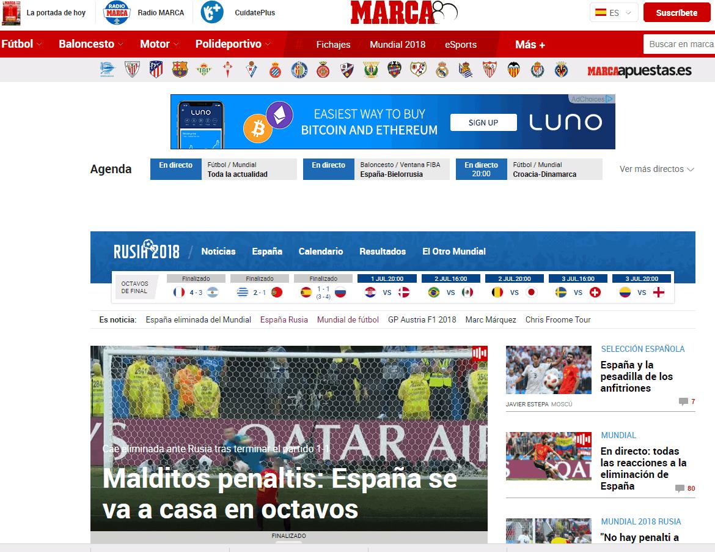 Spagna fuori dal Mondiale: le reazioni dei siti stranieri