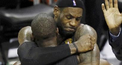 """Nba, James: """"Wade è stato straordinario"""""""