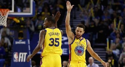Basket, Nba: Durant da urlo, Golden State piega Minnesota