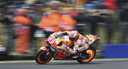 MotoGP: la pioggia aiuta Marquez, è pole in Australia