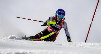 Sci, a Courchevel la Shiffrin vince anche lo slalom
