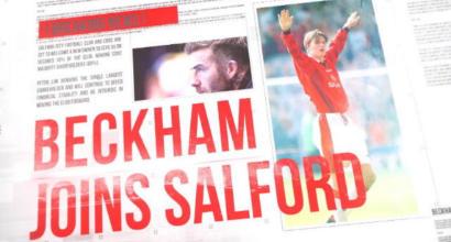 La classe del '92 torna al completo: Beckham compra il 10% del Salford City