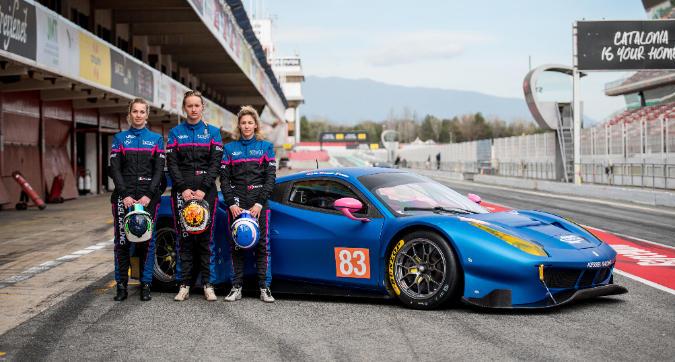 Tre donne al volante di una Ferrari: Kessel nella storia con la 24 Ore di Le Mans nel mirino