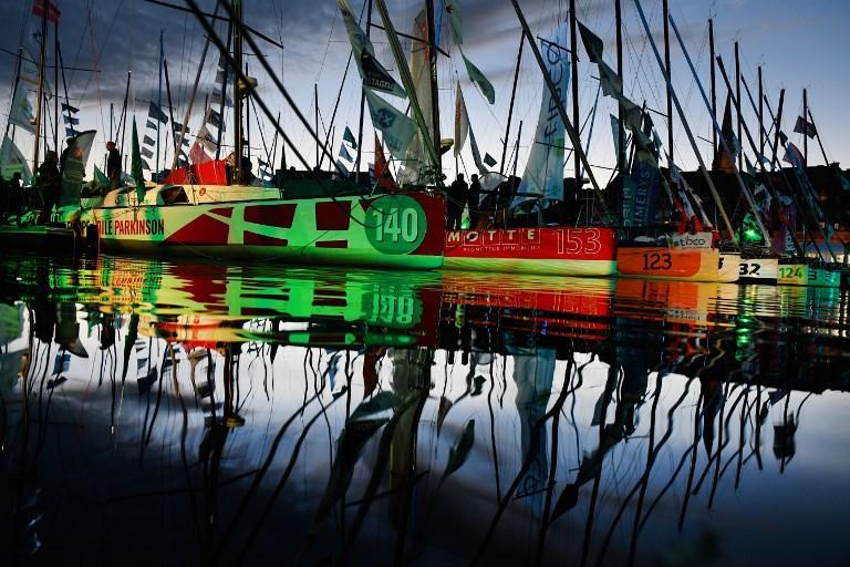 Alcune barche della Route du Rhum, regata che si svolge ogni 4 anni tra Francia e Guadalupa (31 ottobre)
