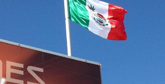 La bandiera del Messico, Foto da Twitter