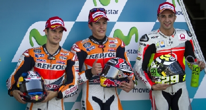 Pedrosa, Marquez e Iannone (Afp)