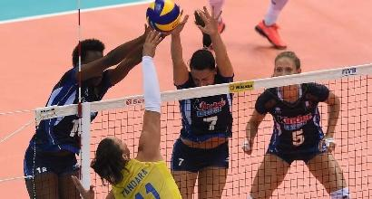 Volley, World Grand Prix 2017: beffa Italia, battuta in finale dal Brasile