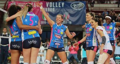 Volley, A1 femminile: Conegliano fa harakiri, Novara vince la regular season