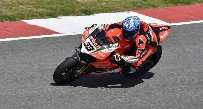 """Superbike, Melandri si accontenta: """"Potevo attaccare van der Mark ma un podio è sempre un podio"""""""