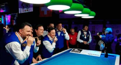 Biliardo, l'Italia trionfa a Lugano: è campione del Mondo