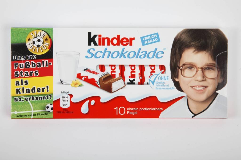 Kinder, giocatori della Germnia da piccoli sulle confezioni