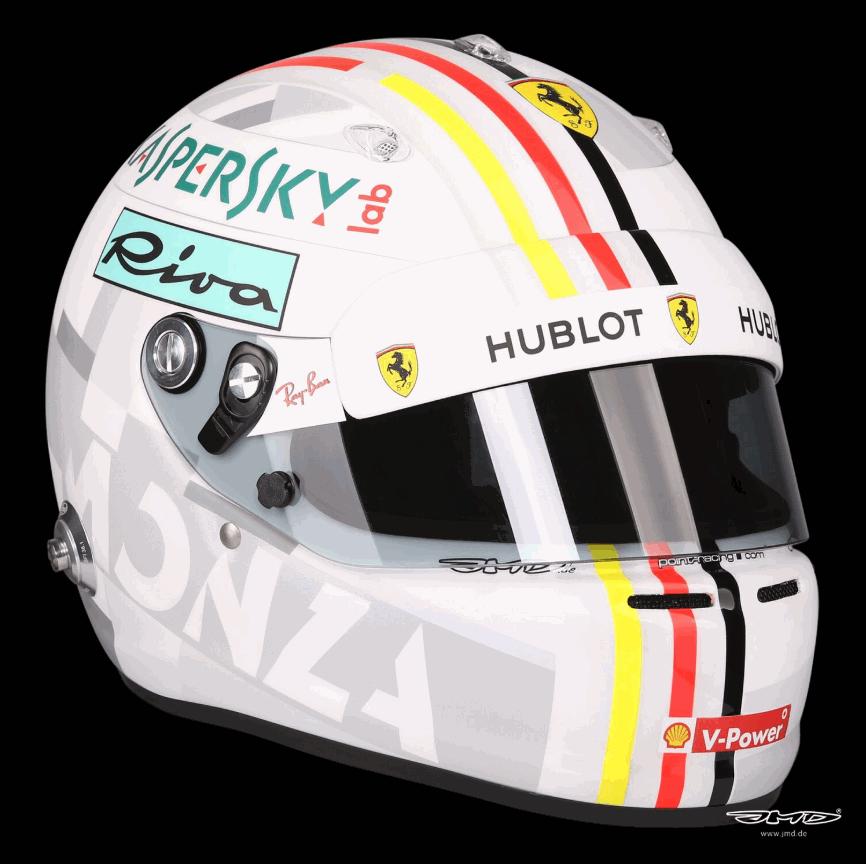 Vettel, casco per Monza