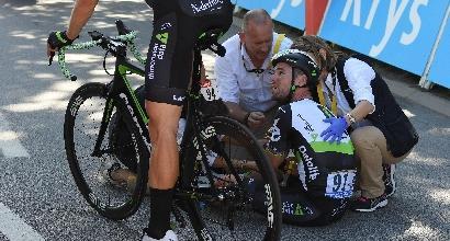 Tour de France 2017: Sagan squalificato per la gomitata a Cavendish