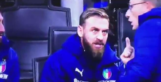 """Italia, furia De Rossi contro la panchina: """"Che entro io? Dobbiamo vincere"""""""
