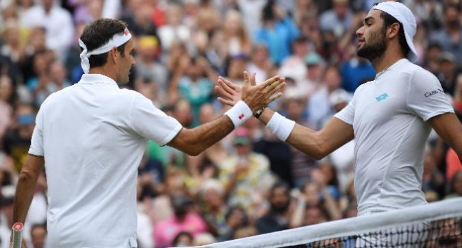 Berrettini, lezione da Federer