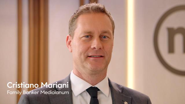 Cristiano Mariani in campo con Banca Mediolanum nella partita della consulenza finanziaria