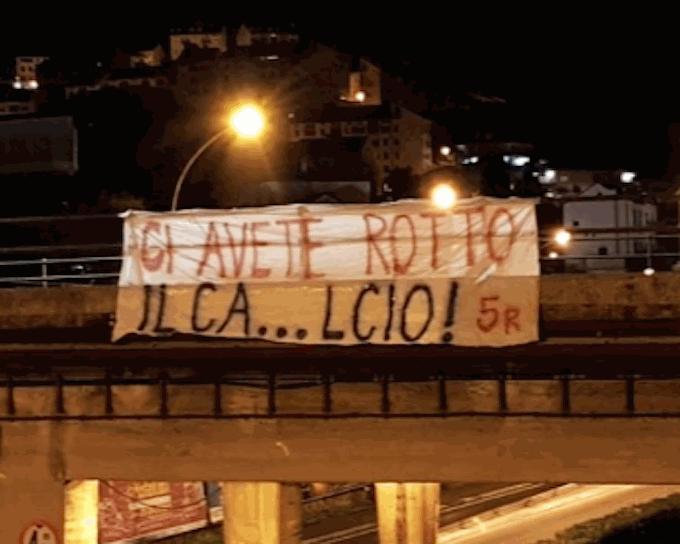 Genoa-Milan, striscioni di protesta in città