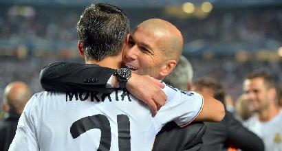 Zidane e Morata, foto Afp