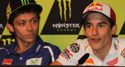 Valentino Rossi e Marc Marquez, foto IPP