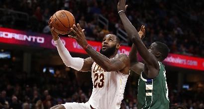 Nba: Cleveland ritorna al successo, altro passo falso dei Clippers senza Gallinari