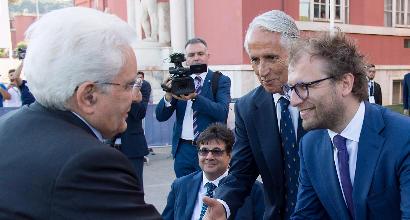 Il ministro Lotti col Presidente della Repubblica Mattarella