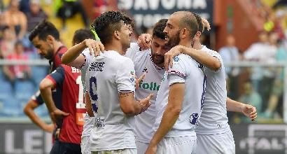 Serie A: tris della Fiorentina, Genoa battuto 3-2