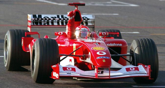 All'asta la Ferrari 2002 di Schumacher: ha un prezzo stellare