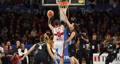 Basket, Serie A: Milano passa a Trento, Reggio Emilia interrompe il digiuno