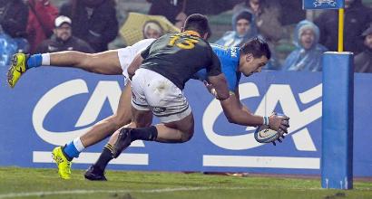 Rugby, Italia-Sudafrica 6-35