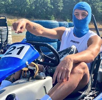 La Lazio in pista sui go kart