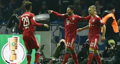 Coppa di Germania: Gnabry e Coman regalano il pass per i quarti al Bayern
