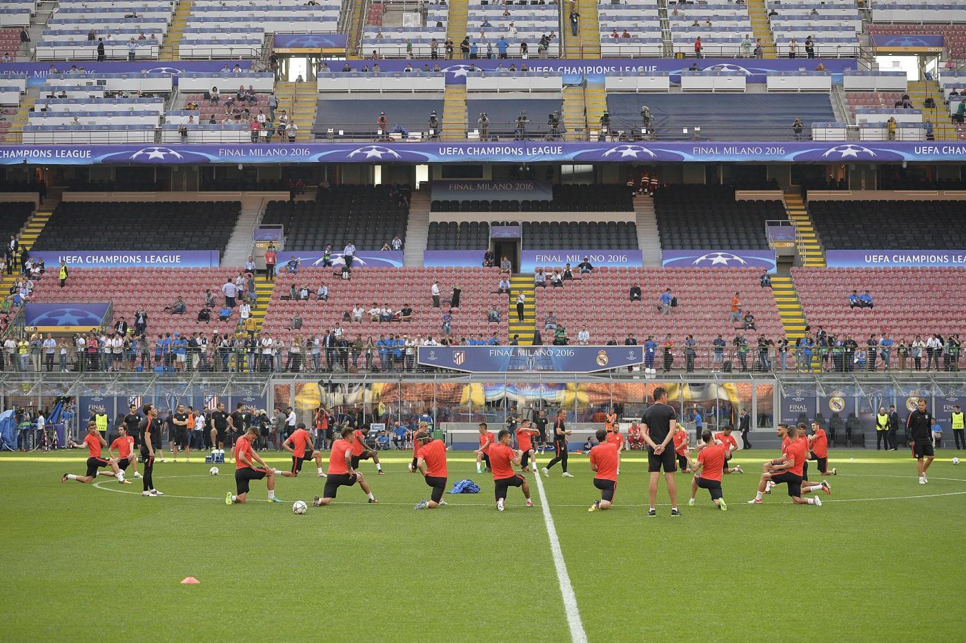 Atletico Madrid, la rifinitura di San Siro