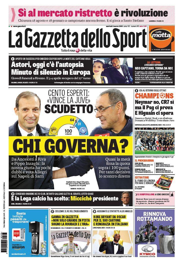Lo sport sui quotidiani italiani e stranieri