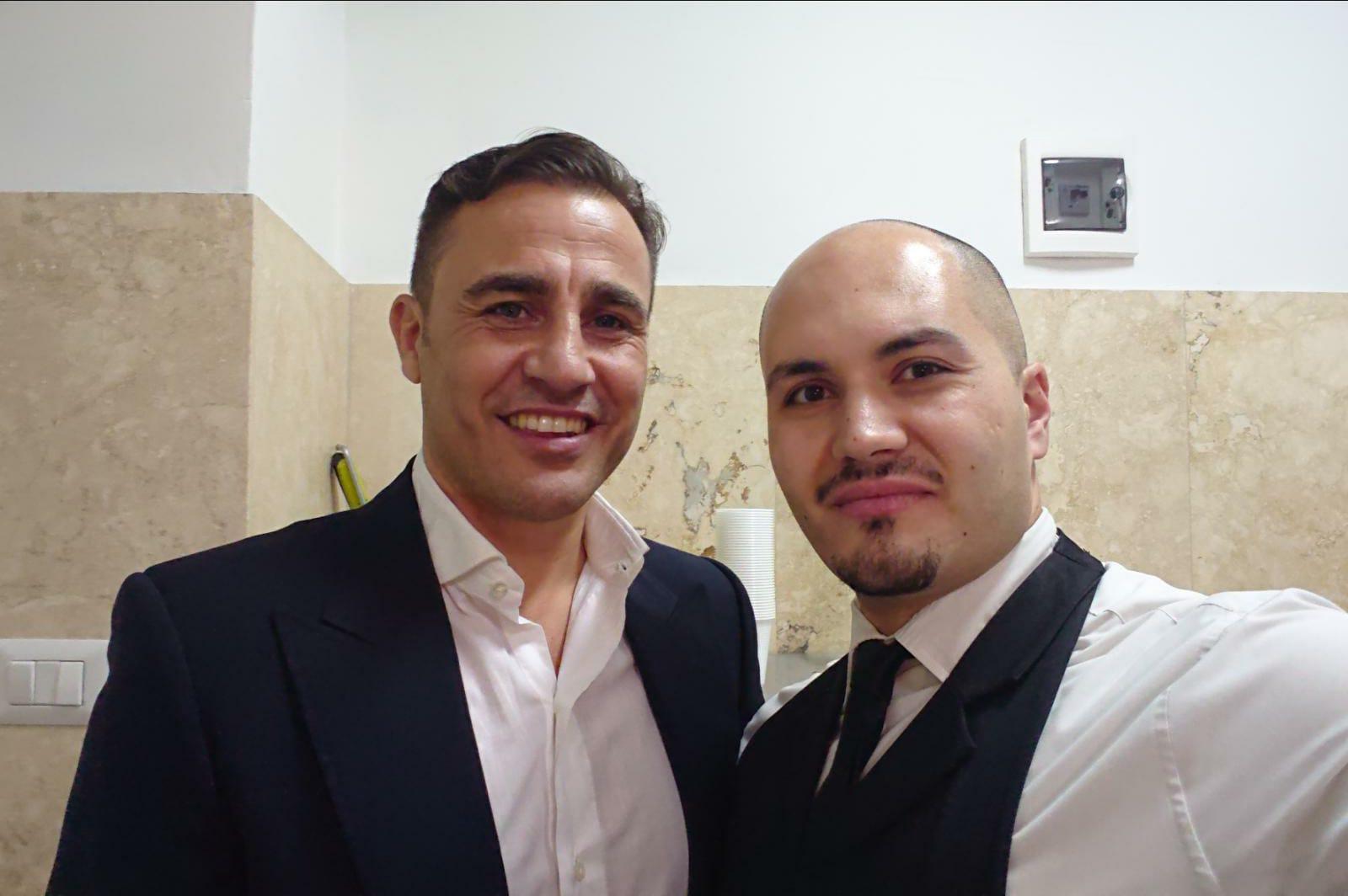 Fabio Cannavaro a Villa Diamante (Napoli)