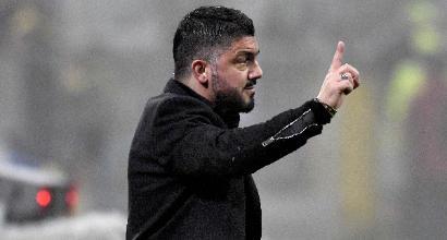 """Milan, Gattuso: """"Grande rammarico, una delle gare migliori"""""""