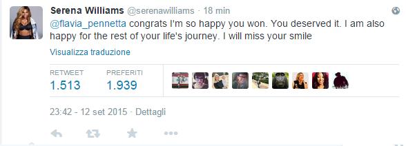Twitter esulta per Flavia Pennetta