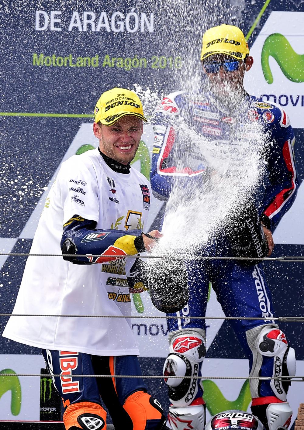 Moto3, Binder festeggia il titolo